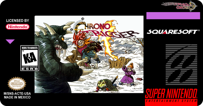 Chrono Trigger cartridge label (SNES) by Madsiur