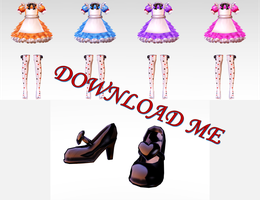 [MMD - Parts] Dress Alice - TERA [Update 2.0] by EriPhantomhive