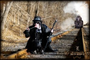 Steampunk DeathNote: L Tracks by Maru-Light