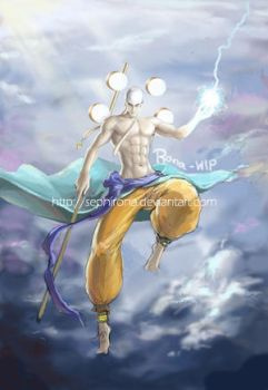 God Enel - WIP by Sephirona