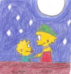Lisa and Maggie's Moonlight by MarioSimpson1