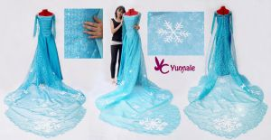 Elsa dress /Frozen by Yunnale