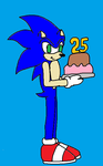 Happy 25th Birthday Sonic by Ant-D