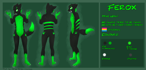 Ferox Reference Sheet ~ Anthro Wolf by CKittyKat98