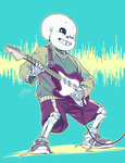 skeletons don't need guitar picks by frostious