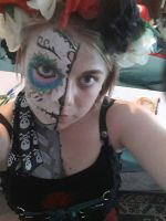 Day of the Dead Face Paint  by scarlett-stephanie