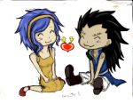 Fairy tail Gajeel x Levy by Cecilow