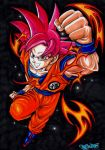 SON GOKU _ SUPER SAIYAJIN GOD by Acid-Flo