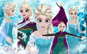 Elsa Frozen Wallpaper by WinnieHappyAsPie