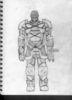 MK. I battle armor by GunslingerDragon