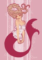 fashion illustration : mermaid by lysel