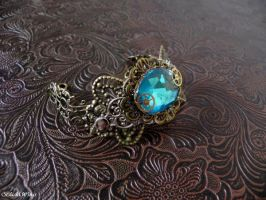 Steampunk cuff by BlackWings-jewelry