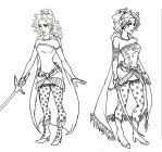 Final Fantasy VI: Terra Lineart by kimberly-castello