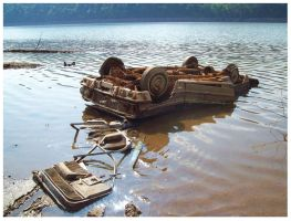 A watery Grave- Chilhowee Drawdown Sept 2008 by CrystalMarineGallery