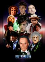 Doctor Who 50th Anniversary Hand painted poster by Andy1063