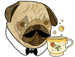 Posh Pug by Butterscones