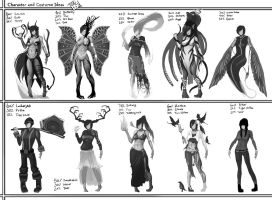 Costume Design Exercises by CatCouch
