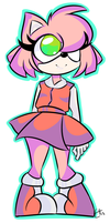 doodle of amy rose by ella--saurus