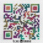 Psychedelic QR Code Cross Stitch by LordLibidan