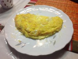 I cooked my homemade cheese omelet. Mmm...^^ by Magic-Kristina-KW