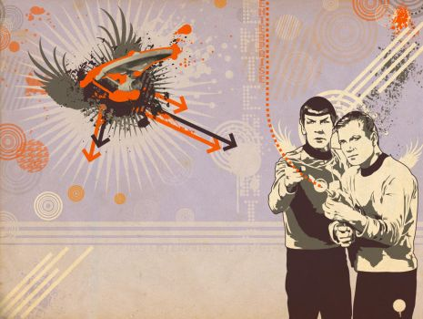 TOSART: Kirk and Spock 3 by moiramurphy