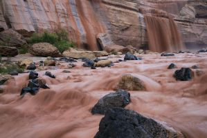 Grand Falls From River Level by Rhavethstine