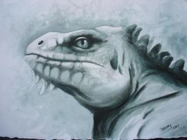 Iguana - tinta china by loreny