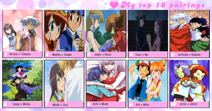 My Top 10 Pairings by VictoriaRZepeda