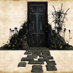 Spooky Door by justalittleknotty
