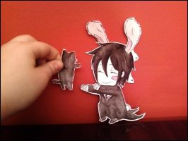 Paper child - Sebastian n neko by Peach-8D