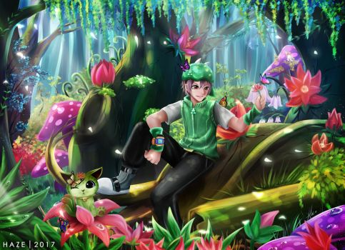 Boboiboy Daun and Cattus by HaruruHazelnut