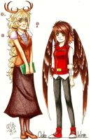Oakliegh And Finch Genderbent by Gresta-GraceM