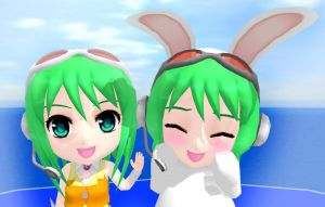 .::Nendoroid and Usa GUMI::. by TwilightMarth