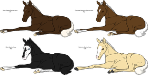 CLOSED Quarter Horse Foal Adoptables by Isolated-Design