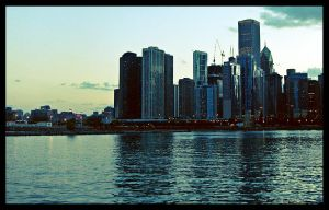 chicago at night by ribcage-menagerie
