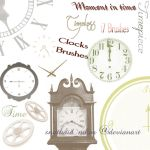 Clocks Brushes by snathaid-mhor