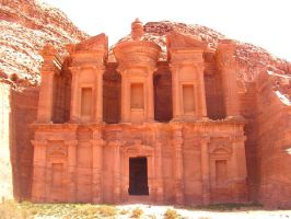 The Monastery, Petra Jordan by Jenvanw