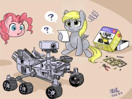 Derpy vs model by shepherd0821