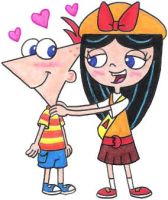 Isabella Flirting with Phineas by nintendomaximus