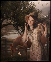 Woman with Horse by tizjezzme