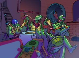 TMNT Downtime 2012 by santivill