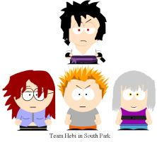 Team Hebi in South Park by clammin910