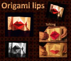 Origami lips by 3Dasha