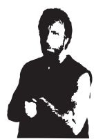 Black and White Chuck Norris by MilesZero