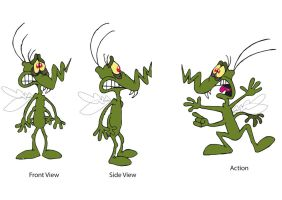 Ozzie the Mozzie character design by raggyrabbit94
