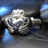 Sapphire claddagh ring by nellyvansee