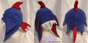 Crazy Blue n Red Shark hat by Haru-Megumi