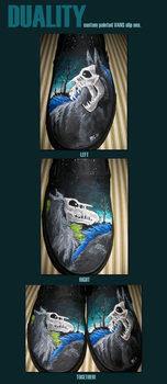 DUALITY: Custom Painted Vans shoes II by THE-WEATHERED-RAVEN