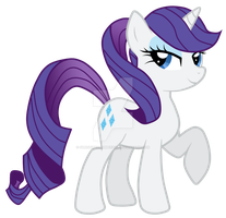 Rarity with ponytail by sunshineshimmer200