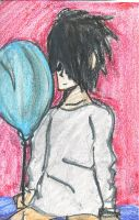 Lawliet with a Balloon Pastel by hanafenton